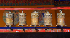 Buddhist prayer wheels Royalty Free Stock Image