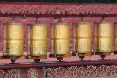 Buddhist prayer wheels Royalty Free Stock Photos