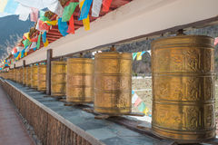 Buddhist prayer wheels Royalty Free Stock Image