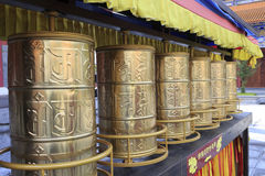 Buddhist prayer wheels Royalty Free Stock Photo