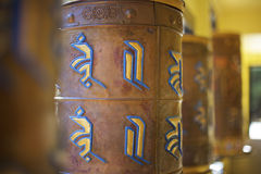 Buddhist Prayer Wheels Close-Up Royalty Free Stock Image