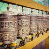 Buddhist prayer wheels, Kathmandu, Nepal. Royalty Free Stock Image
