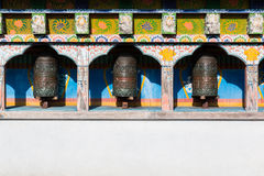 Buddhist prayer wheels in Nepal. Stock Images