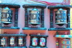 Buddhist prayer wheels. Stock Photos