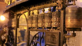 Buddhist prayer wheels. Swayambhunath Stupa, Kathmandu Royalty Free Stock Photo