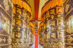 Buddhist prayer wheels Stock Photos