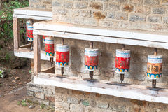 Buddhist prayer wheels Royalty Free Stock Photos