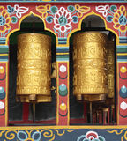 Buddhist prayer wheels Stock Photography