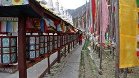 Buddhist Prayer Wheels stock footage