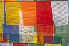 Buddhist praying flags Stock Image