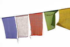 Buddhist praying flags Royalty Free Stock Images