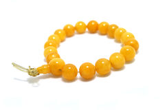 Buddhist Praying Item. Make by amber, similar to rosary in Catholic Stock Photography