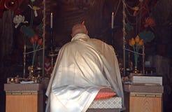 Buddhist priest, Miyajima, Japan Stock Photography