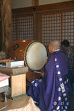 Buddhist priest, Miyajima, Japan Royalty Free Stock Photo