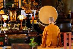 Buddhist priest, Tokyo, Japan Royalty Free Stock Photo
