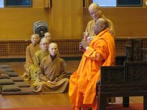 Buddhist priests in the temple