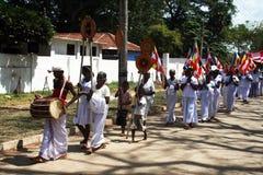 Buddhist procession Royalty Free Stock Photo