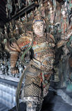 Buddhist protector diety. In Shaanxi Shuanglin, China royalty free stock photo
