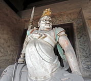 Buddhist protector diety. In Shaanxi Shuanglin, China stock photos
