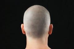 Buddhist rasierter Kopf, von hinten Lizenzfreie Stockfotografie