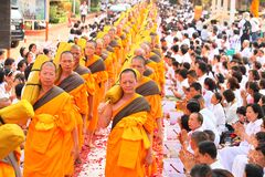 Buddhist religion procession Stock Photos