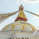 Buddhist religious centre Boudhanath Stupa in Kathmandu, Nepa Royalty Free Stock Photos