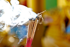 Buddhist religious ritual Royalty Free Stock Images