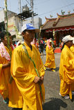 Buddhist religious ritual. Buddhist follow a religion rituals in the city of Solo, Central Java, Indonesia royalty free stock photography