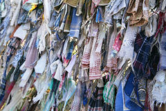 Buddhist Ribbons Fluttering In The Wind Royalty Free Stock Image