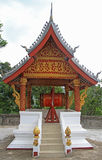 Buddhist ritual drum in the temple Stock Photo