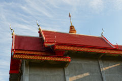 Buddhist roof temple Royalty Free Stock Photo