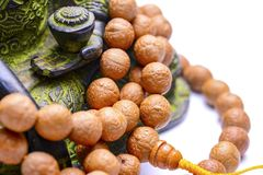 Buddhist rosary with buddha tree stock photos