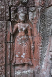Angkor Watt detail. There are numerous ruins of old temples around countries in Southeast Asia. One of the most important is Angor Watt in Cambodia Stock Photo