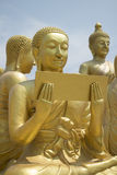 Buddhist's Disciple statue. And Big Buddha statue Royalty Free Stock Photos