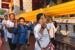 Buddhist sacred procession Royalty Free Stock Photography