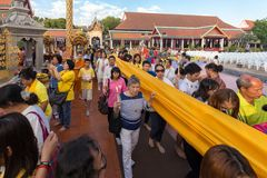 Buddhist sacred procession Royalty Free Stock Photo