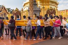 Buddhist sacred procession Stock Photo