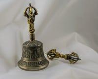Buddhist Sacred Spiritual Tibetan Bell and Dorje Stock Image