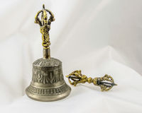 Buddhist Sacred Spiritual Tibetan Bell and Dorje Stock Photo