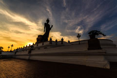 Buddhist salaya. Salaya evening in Buddhist Thailand Stock Images