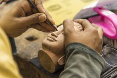 Buddhist Sculpture carving stock photography