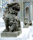 Buddhist sculpture.Singha stone statue in Bangkok. Thailand Royalty Free Stock Photos