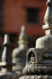 Buddhist Sculptures. In Swayambhunath Temple Stock Image