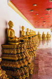 Buddhist sculptures of mystical creature in the interior of a Buddhist temple Royalty Free Stock Images