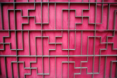 Buddhist shape symbol. Gate with a red cloth royalty free stock images