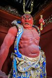 Buddhist and Shinto warrior Statues, Nikko, Tochigi Prefecture, Japan. The magnificent statues of Nio the guardian gods guarding both sides of Omotemon also stock photo