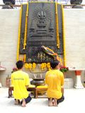 Buddhist shrine, Bangkok, Thailand. Royalty Free Stock Photos