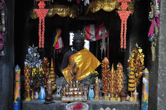 In Buddhist shrine  at banteay kdei temple, angkor, cambodia Stock Image