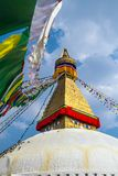 Buddhist shrine Boudhanath Stupa Stock Image