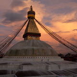Buddhist Shrine Boudhanath Stupa. Nepal, Kathmandu Stock Photo